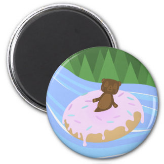 Bear Bliss Doughnut River Floatie Magnet
