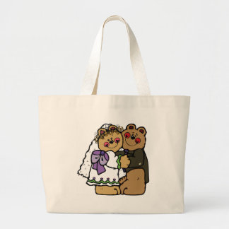 Bear Bride and Bear Groom Large Tote Bag