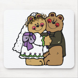 Bear Bride and Bear Groom Mouse Pad