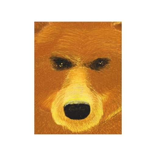 Bear Stretched Canvas Prints
