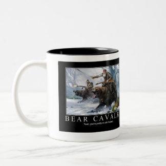 Bear Cavalry Two-Tone Coffee Mug