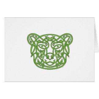 Bear Celtic Knot Card