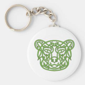 Bear Celtic Knot Key Ring