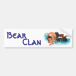 Bear Clan Fine Art Bumper sticker