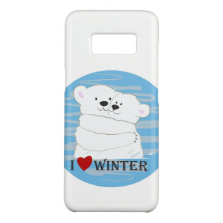 Bear Couple Polar Cute Love Winter Hug Cartoon Case-Mate Samsung Galaxy S8 Case