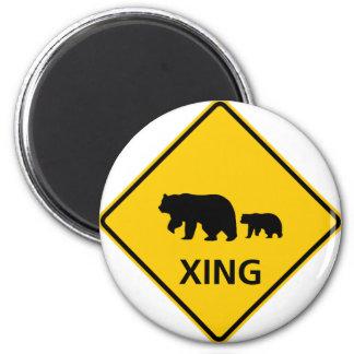 Bear Crossing Highway Sign Magnet