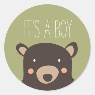 Bear Cub Classic Round Sticker