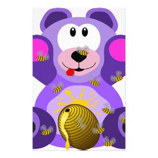 Bear cub customised stationery
