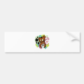 Bear cute baby cartoon chinese bumper sticker