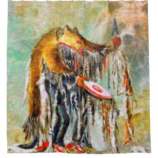 Bear Dancer Native American Shower curtain