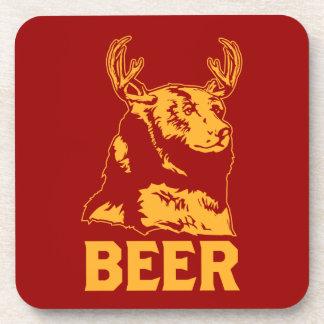 Bear + Deer = Beer Coaster