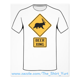 Bear Deer Beer Crossing Custom Flyer