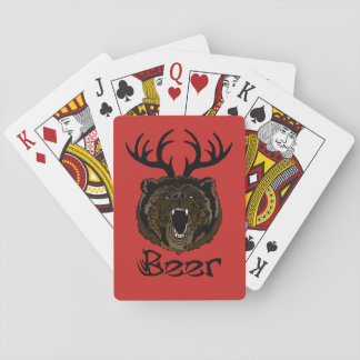 Bear + Deer = Beer Playing Cards