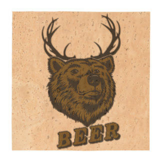 Bear + Deer = Beer? Beverage Coaster