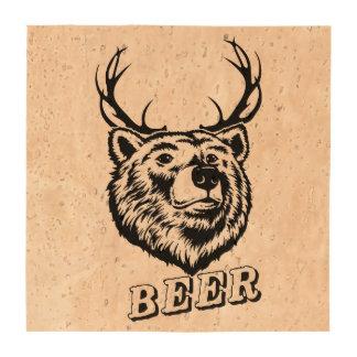 Bear + Deer = Beer? Coaster