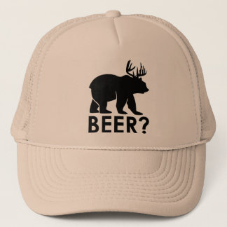 Bear + Deer = Beer? trucker hat