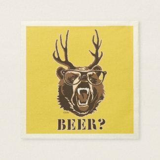 Bear, Deer or Beer Disposable Napkin