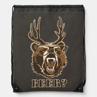 Bear, Deer or Beer Drawstring Bag