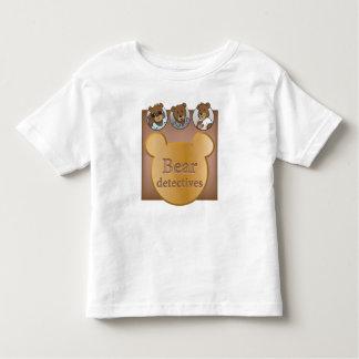 Bear detective logo & faces Fine Jersey T-Shirt