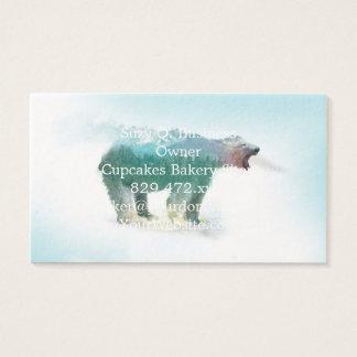 Bear double exposure - polar bear - bear art business card
