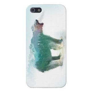 Bear double exposure - polar bear - bear art cover for iPhone 5/5S