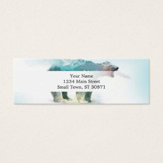 Bear double exposure - polar bear - bear art mini business card