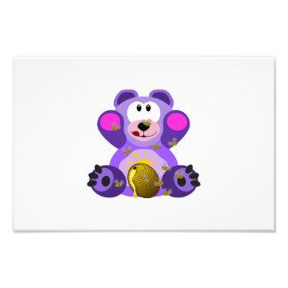 Bear eating honey clipart photo print