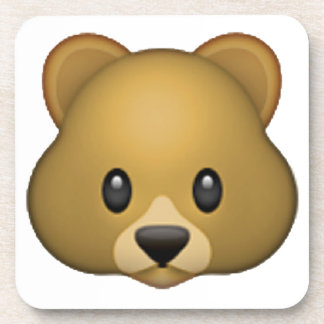 Bear - Emoji Drink Coaster