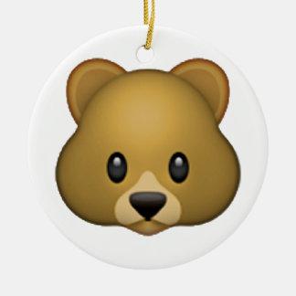 Bear - Emoji Round Ceramic Decoration