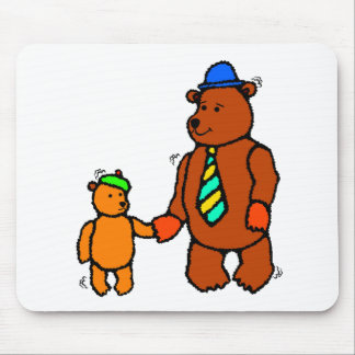 Bear Father And Son Mousepad