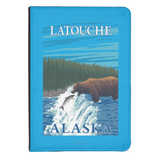 Bear Fishing in River - Latouche, Alaska Kindle Touch Case