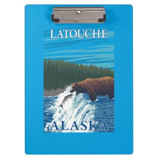 Bear Fishing in River - Latouche, Alaska Clipboards