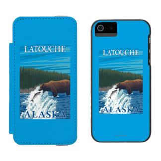 Bear Fishing in River - Latouche, Alaska Incipio Watson™ iPhone 5 Wallet Case