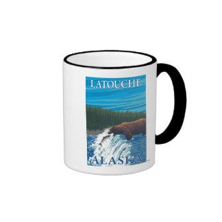 Bear Fishing in River - Latouche, Alaska Coffee Mug