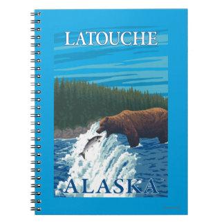 Bear Fishing in River - Latouche, Alaska Note Book