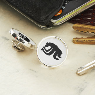 Bear Flute Player Lapel Pin