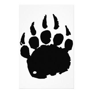 Bear Footprint Customized Stationery