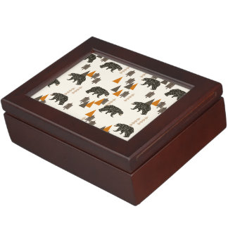 Bear / Forest Woodland Camping / Andrea Lauren Memory Boxes
