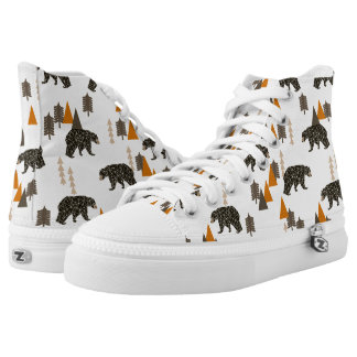 Bear / Forest Woodland Camping / Andrea Lauren Printed Shoes