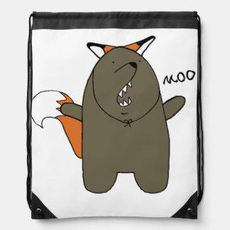 Bear Fox bag Drawstring Backpack