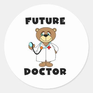 Bear Future Doctor Classic Round Sticker