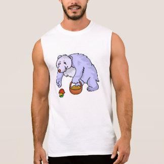 Bear Gathering Mushroom Sleeveless Tees