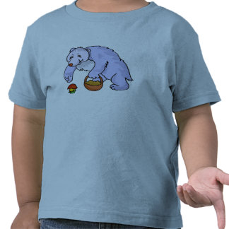 Bear Gathering Mushroom Tshirt