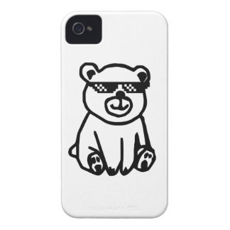 bear_glasses_hd_space iPhone 4 cover