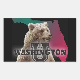 Bear Goes To College Rectangular Sticker
