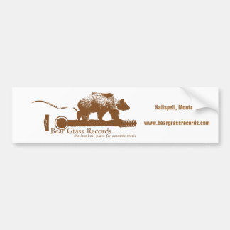 Bear Grass Records Bumper Sticker