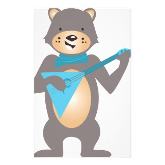 Bear & Guitar Customized Stationery