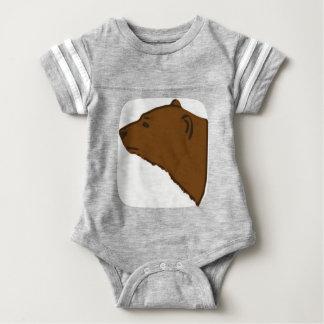 Bear Head Baby Bodysuit