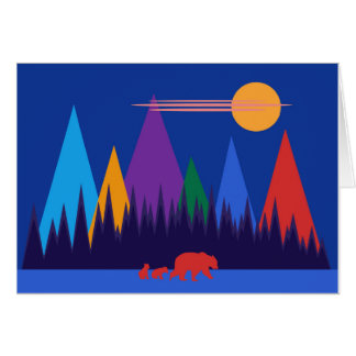 Bear & Her Cubs Card