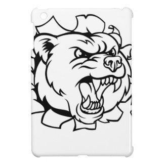 Bear Holding Tennis Ball Breaking Background iPad Mini Case
